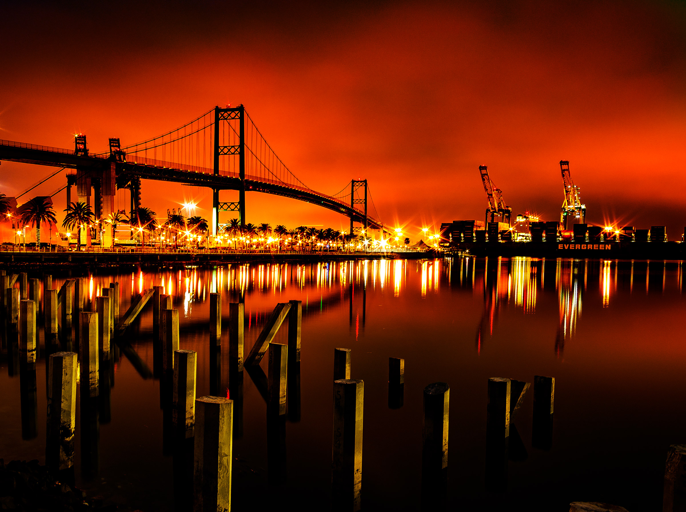 San Pedro Harbor by Scott Crawford
